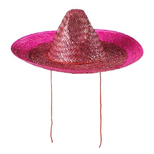 Widmann 1428G - Rosa mexikanischer Sombrero für Erwachsene