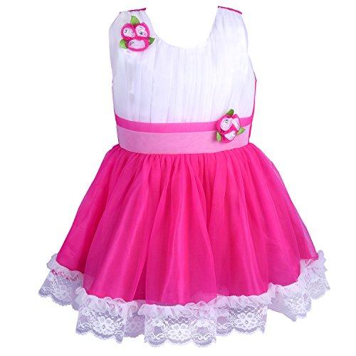 Wish Karo Baby Girls Party Wear Frock Dress (fr1010p-6-12 Mth_Pink_6 - 12 Months)