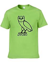 Gogofuture Uomo OVOVX T Shirt Estive Maniche Corte Camicie Estive Blusa Magliette  Stampa Gufo Girocollo Top 01100f042d6