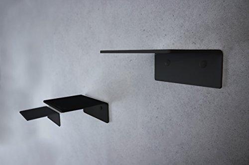 trelixx Katzentreppe Mini aus schwarzem PLEXIGLAS, dreistufig, 14 x 15 cm für Katzen bis 5 kg, mit...