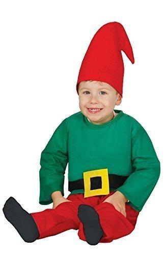 Baby Mädchen Junge Festliche Elfe Weihnachten Helfer weihnachten Gnom Fancy-Dress Kostüm Outfit 6 - 24 monate - 12-24 (Gnom Baby Kostüm Jungen)