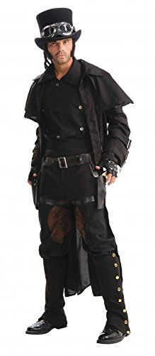 Langer Steampunk Herrenmantel Duster Coat Gr. M/L Mantel Duster Coat Burning Man (Mad Men Kostüm Halloween)