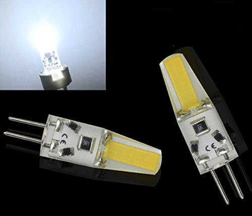 Preisvergleich Produktbild 4x Sunix G4 LED COB Lampe Stiftsockel Birne Leuchtmittel Silica 12V Weiß 3W