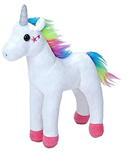Wild Republic- Unicornio, Esponjoso, Peluche Cuddlekins Mini, White Stars, Blanco, 20 cm, Color (1)