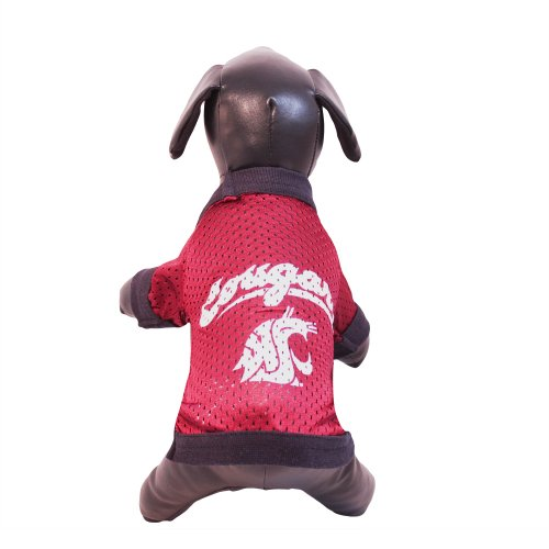 All Star Dogs NCAA Hunde-Trikot Washington, State Cougars Athletic Mesh, Unisex-Erwachsene, NCAA Washington State Cougars Athletic Mesh Dog Jersey, Team Color, XX-Large