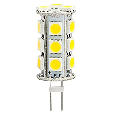 G4 GX4 Bi Pin Tower 5050 LED Capsule Light Cluster Bulb Ac Dc 12V 24V 2Pin Fitting Lamps Replacement for 10W JC Halogen Spot Lamp Bulbs of Vehicle & Any Low Volt Lighting System, Warm White,