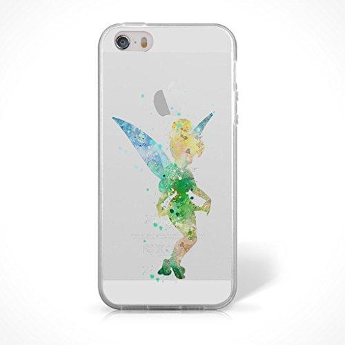 """Fan Art Telefon Hülle/Case Gel TPU Abdeckung für iPhone 6 / 6s (4.7"""") mit Display Schutz / EJC Avenue / Die Schöne und das Biest Groß Tinkerbell"""