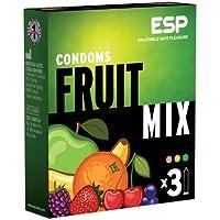 Preisvergleich für ESP Fruit Mix (3 fruchtige Kondome), Kirsche - Orange - Tutti-Frutti