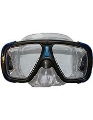 Tecno Pro Máscara de buceo (Adulto Bandos Azul