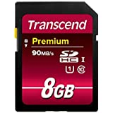 Transcend 8GB High Speed 10 UHS Pen Memory Card Upto 45MB/s, 300x -(TS8GSDU1)