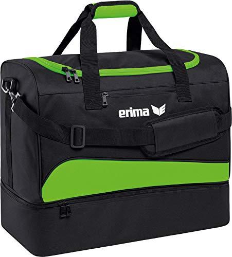 erima Sporttasche mit Bodenfach Sporttasche, 50 cm, 56 Liter, Green Gecko/schwarz -