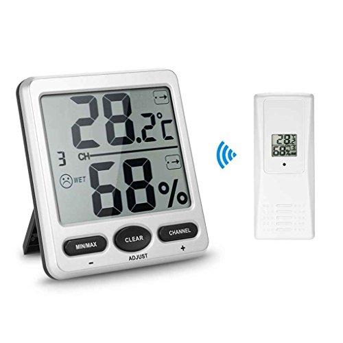 ELENXS 1 bis 1 Wireless Digital Thermo-Hygrometer Konsole Receiver Remote Sensor Emitter Thermometer Humidometer Trockenräume - Wireless Thermo-hygrometer