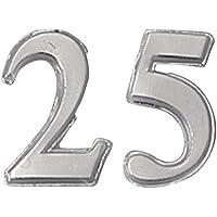 EFCO Jubilee cera, confezione da 25, colore: argento brillante e 22 mm
