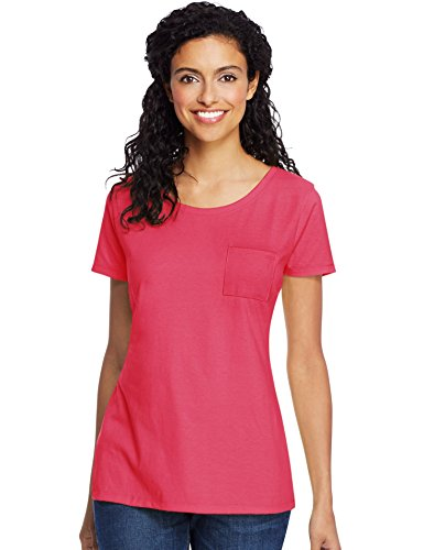 Hanes Women's Lightweight Short Sleeve Scoopneck Pocket T-Shirt (Xxl Tagless T-shirt Hanes)