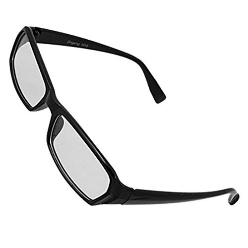 Aus schwarzem Kunststoff Full Frame klare Linse Gläser für Unisex