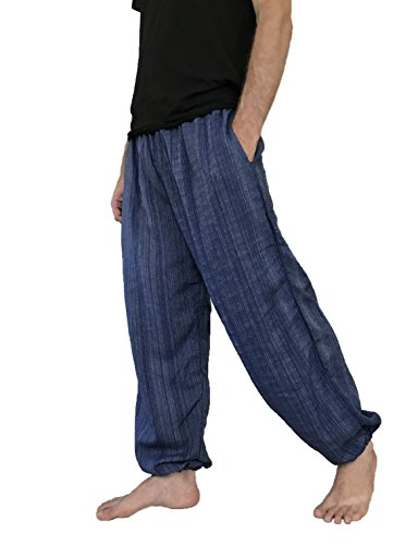Pantalones Talla Única para hombre algodón harén pantalones hippie boho pantalones