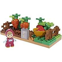 Masha y el Oso - Bloques de construcción, color verde / marrón / naranja / amarillo (Simba/Big 800057091)