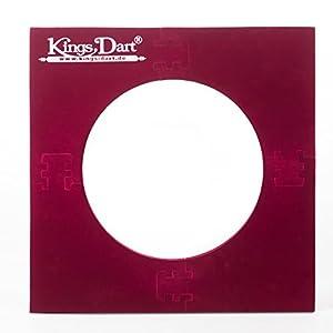 Kings Dart Auffangfeld | Für Dartscheiben mit 44.5 cm Durchmesser | 70x70 cm