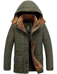 5cbf1d2a25ef Hommes Camouflage Hoodies Homme Garçon À Capuche Manteau Poches Coupe-Vent  d hiver Plus La Taille Doudoune Blouse Épaississement…