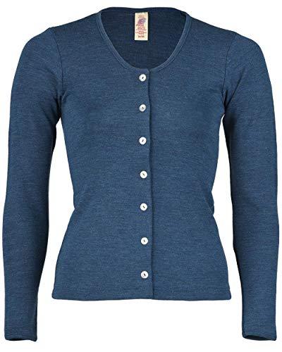 Engel Natur, Damen Strickjacke, 100% Wolle (kbT) (42/44, Saphir) - 100% Wolle Jacke