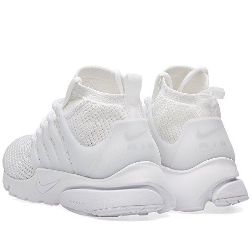 Nike Herren Air Presto Flyknit Ultra Turnschuhe, 41 EU white, white-white-ttl crimson