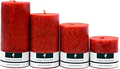 Real Store Scented Candles Set of 4 (Red)