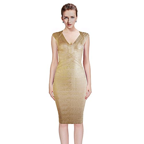 best quality Damen Schlauch Kleid Gr. 30, gold