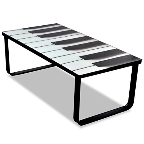 vidaXL Tavolino da Caffè con Ripiano con Stampa su Vetro Tavolo Basso Salotto