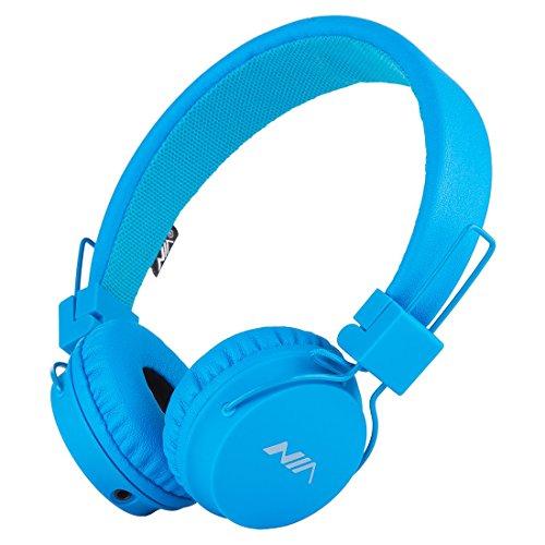 Termichy Wired Kinder Kopfhörer faltbarer On-Ear Hifi Stereo headset mit Inline-Control Abnehmbare 3,5mm Klinkenstecker Audio Kabel (Blue)