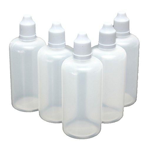 KING DO WAY 5pcs Flacon bouteille plastique vide compte goutte capuchon liquide oeil 100ml