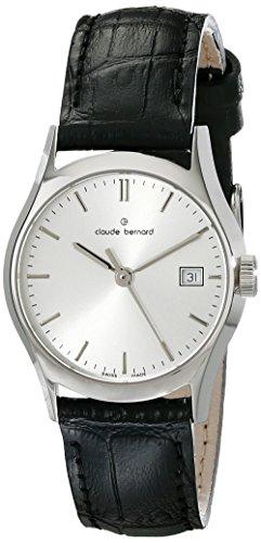Claude Bernard Classic Women's Watch Analogue Quartz Leather Black 54003-3-AIN