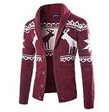 Tomatoa Weihnachtspullover Herren Strickjacke Sweatshirt Cardigan Sweatjacke Weihnachtspulli Männer Weihnachtlichen Kapuzenpullover Mit Kapuze