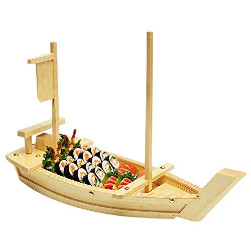 Diseño profesional, solo para brindarte una calidad de vida!Nuestro plato de sushi japonés está diseñado para imitar el barco y crear una rica decoración de comida bajo la forma creativa.Será una excelente manera de impresionar su cena mientras sirve...