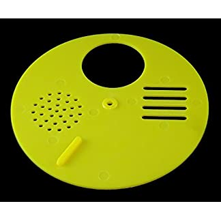 ENTRANCE REDUCER - BEEHIVE - TBH - ROTATING BEE HIVE NUC ENTRANCE DISC -YELLOW ENTRANCE REDUCER – BEEHIVE – TBH – ROTATING BEE HIVE NUC ENTRANCE DISC -YELLOW 41F79ELdRsL
