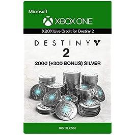 Xbox Live Carta Regalo per Monete d'argento di Destiny 2: 2000 (+300 Bonus) Xbox One/Windows 10 PC – Codice download