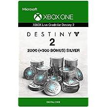 Xbox Live Carta Regalo per Monete d'argento di Destiny 2: 2000 (+300 Bonus) Xbox One/Windows 10 PC - Codice download