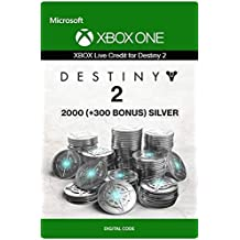 Xbox Live Tarjeta Regalo para Monedas de Plata de Destiny 2: 2000 (+300 Bonus) Xbox One/Windows 10 PC - Código de descarga
