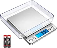 Brifit Digitale Weegschaal 500g / 0,01 g, Keukenweegschaal met Hoge Precisie, Sieradenweegschaal, Professionel
