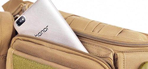 FZHLY Outdoor Sport Multifunktions-Tarnung Taschen,Camouflage Black
