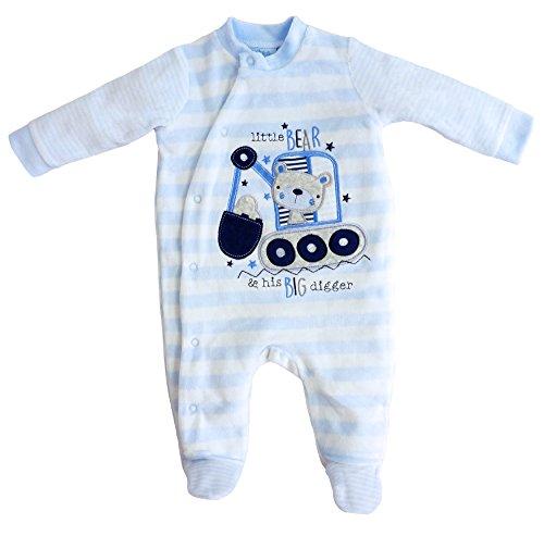 Rock-a-Bye - Baby Jungen Strampler Schlafanzug little Bear Gr. 68/74 (6-9M)