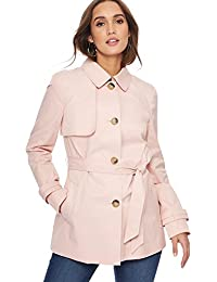 Debenhams The Collection Womens Light Pink Single Breasted Mac