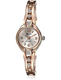 Cuarzo reloj de la mujer Swarovski Crystal-Accented Acero Inoxidable En Oro Rosa
