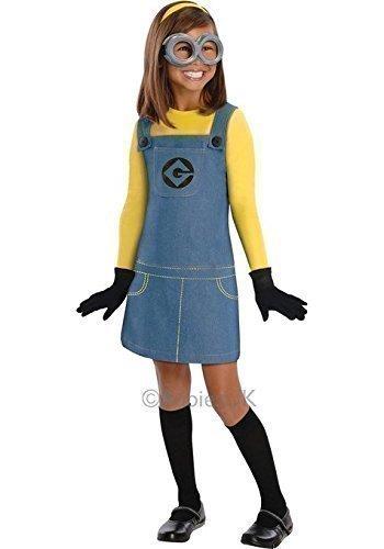 er Minion Ich - Einfach Unverbesserlich Offiziell Lizenziert Büchertag Halloween Kostüm Kleid Outfit - Mädchen, 3-5 Years (Minion Kinder Outfit)