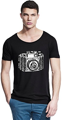 Camera Bamboo Wide Neck T-shirt X-Large