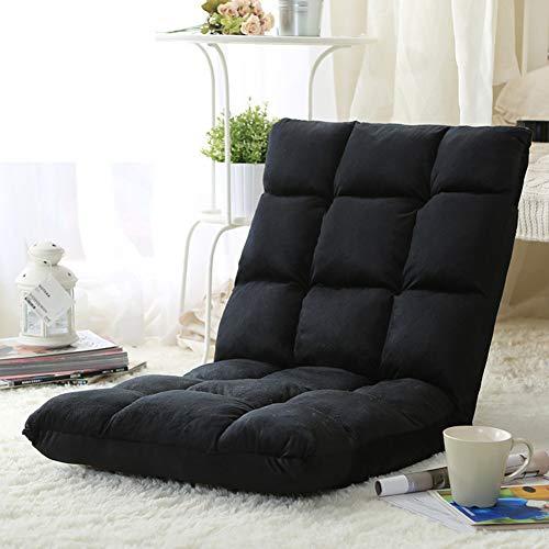 Japanische Design-tatami-matte (WUTRBYZ Tatami-matten Bodenstuhl Faul, Sofa Mit Verstellbare rückenlehne Stock Gaming-Stuhl Meditationsstuhl Liegestühle-schwarz)