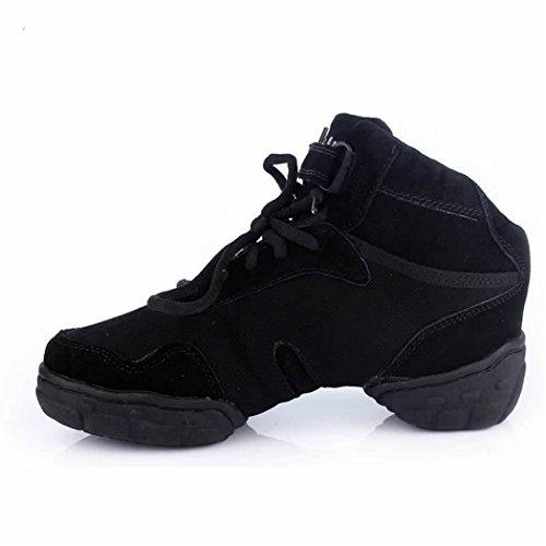 ZQ@QXMaschio e femmina canvas fitness danza moderna danza moderna piazza scarpe scarpe da ballo scarpe black