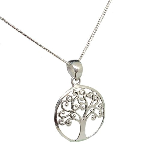 (925 Sterling Silver Necklace (Heavy)) - Mirabella BellaMira TREE LIFE - Sterling Silver 925 Silver Plated - Necklace Earrings Jewellery Set (as chosen) Gift Boxed