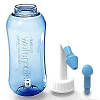 DOXUNGO 300ml/500ml Yoga Nasal Rinsing Nose Wash System Neti Pot for Allergic Rhinitis (500ml-blue-fba)
