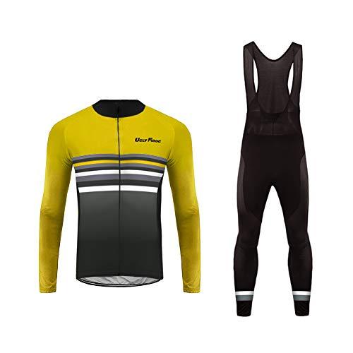 Uglyfrog Sports Wear Herren Sport & Freizeit MTB Fahrradbekleidung Radtrikot+Bib Lange Hosen Anzüge Frühling Atmungsaktiv Triathlon Clothes