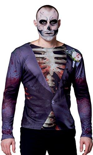 Boland 84315 - Fotorealistisches Shirt Blutrünstiger Bräutigam, Sonstige Spielwaren (Halloween Shirts Für Erwachsene)